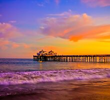 Sunset Light at Malibu Pier by makingimages