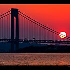 Sunset over Verrazzano Bridge by odessit40