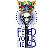Psychedelic Skull & Butterfly by Zehda