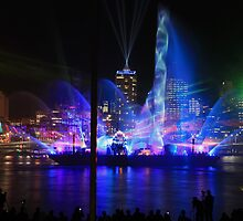 City of Lights Laser Show, Brisbane, Australia 12 Sept 2012 #2 by Sea-Change
