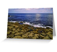 The Giant's Causeway and the Sea Greeting Card