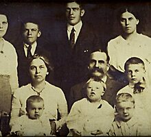 The Garlick Family circa 1918 at Woodbury, Litchfield, CT by Jane Neill-Hancock