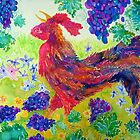 Cockerel and Grapes by Nicky Perryman