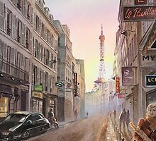 Rue Saint Dominique - Eiffel Tower View by Irina Sztukowski