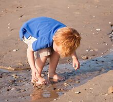 A Curious Boy at the Beach by Robert Kelch, M.D.