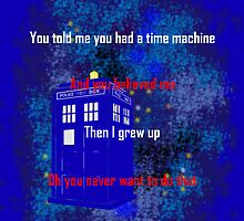Doctor Who quote - Never want to grow up by MsHannahRB