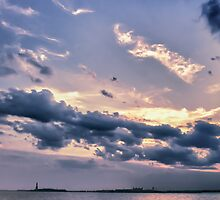 New York - Liberty Dusk by Cr4zy