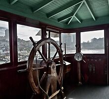 Pilot House of S.S. Eureka, San Francisco, California by Scott Johnson