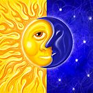 Solstice Sun and Moon by davidkyte