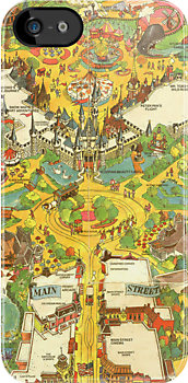 Vintage Disneyland Map Main Street USA by tylersmithh