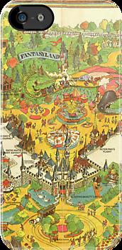 Vintage Disneyland Map Fantasyland by tylersmithh