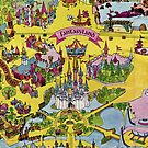 Vintage Walt Disney World Map Fantasyland 1971 by tylersmithh