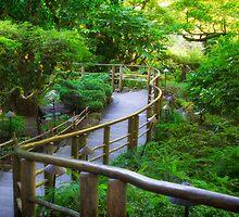 Stairs - Japanese Garden - Butchart Garden by Yannik Hay