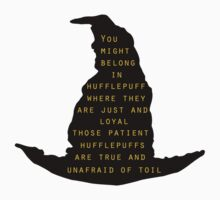 Hufflepuff Sorting Hat Quote by StaceyN