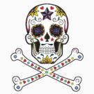 Sugar Skull & Crossbones by pwrighteous