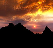 Sunset over Badlands National Park .2 by Alex Preiss