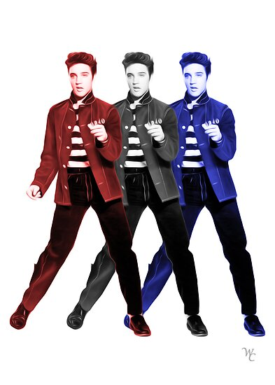 Elvis Presley - Red, White, Blue - Pop Art by wcsmack