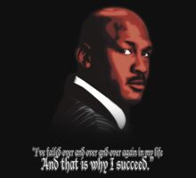 Michael Jordan Vector and Quote by T3cowboys