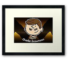Charlie Brownson (Print Version) Framed Print