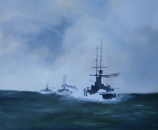 North Sea Convoy/oils by andy davis
