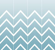 Broken Chevrons (Aqua) by Beth Thompson