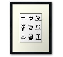 Movember Facial Hair Guide Framed Print