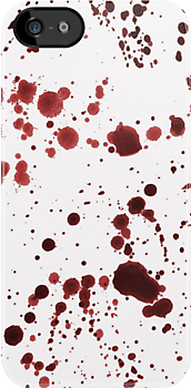 Red Ink Splatter Large by pondripple