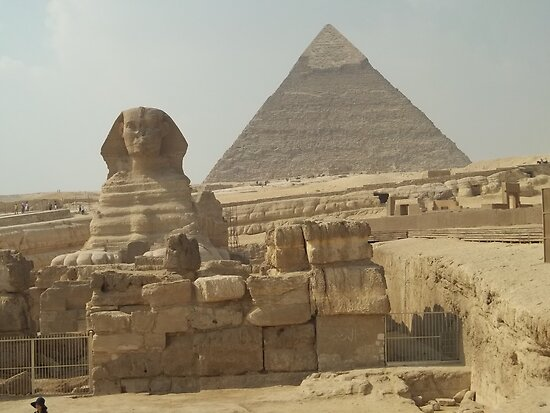 Great Pyramids of Giza and Sphinx, Egypt by Ricky Dieter