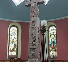 Religious, monument, Ruthwell Runic Cross by Hugh McKean