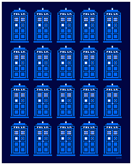 TARDIS PATTERN by DREWWISE