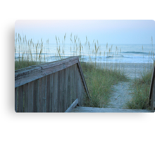 Morning Walk To The Beach Canvas Print