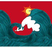 Shark Surfing Photographic Print