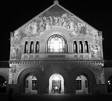 Stanford Memorial Church at Night. Palo Alto, California by Igor Pozdnyakov