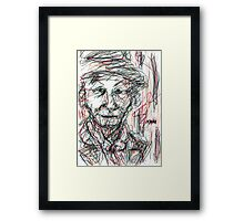 Miss Marple Sketch III Framed Print