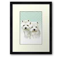 westies (mother and daughter) Framed Print