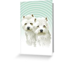 westies (mother and daughter) Greeting Card