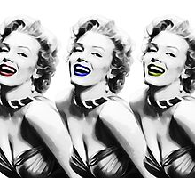 Marilyn Monroe - 3 - Pop Art by wcsmack