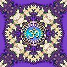 Purple Lace New Age Golden Om (Sanskrit Aum) iPhone & iPod Case by webgrrl