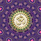 Purple Pink Golden OM iPhone + iPod Touch Case by webgrrl
