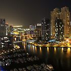 Dubai Marina at Night - Southern Bowl by Citisurfer