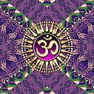 Purple Eastern Batik iPhone & iPod Case by webgrrl