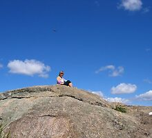 UFO, Me on top of Giant Rocks, Giraween Park ,QLD by MardiGCalero