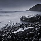 Dunraven Bay 013 - Black, White & Blue by Paul Croxford