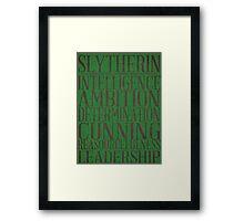 Slytherin (Harry Potter) Framed Print