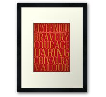 Gryffindor (Harry Potter) Framed Print