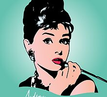 Audrey Hepburn - Tiffany - Pop Art by wcsmack