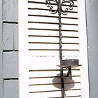 Iron Key on Shutter by Karen Jayne Yousse