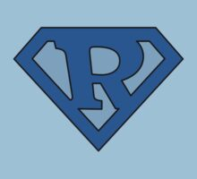 Super Blue R Logo by adamcampen
