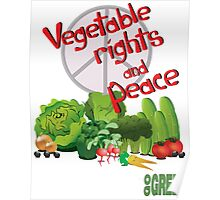 Vegetable Rights and Peace Poster