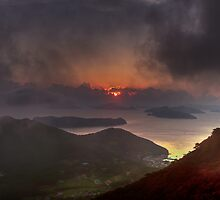 Hongpo sunset, South Korea  by Gabor Pozsgai